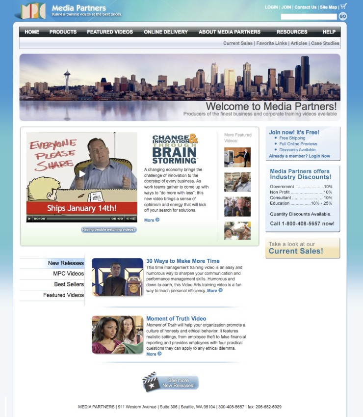 Media Partners home page